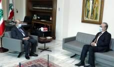 عون عرض مع وهاب التطورات السياسية ومسار تشكيل الحكومة الجديدة