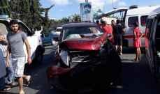 النشرة: جرحى نتيجة حادث سير على اوتوستراد انصار - الجنوب