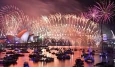 بدء احتفالات رأس السنة الميلادية في أوستراليا