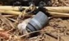 النشرة: الجيش فجر قنبلة عنقودية من مخلفات حرب تموز في ميمس