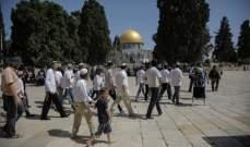 مستوطنون يقتحمون المسجد الأقصى بحماية الأمن الإسرائيلي