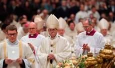البابا فرنسيس ترأس قداس عيد الفصح في كنيسة بازيليك القديس بطرس