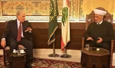 المفتي دريان التقى رحمة وبحث مع سفيرة إيطاليا في لبنان بتعزيز العلاقات بين البلدين