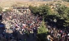 انطلاق مسيرة ثورة الاستقلال من سوق راشيا الاثري الى قلعة الاستقلال
