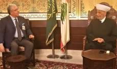 المفتي دريان بحث مع المشنوق في الملف الحكومي