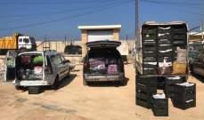ضبط 3 شاحنات مهربة عند مداخل صيدا من الحدود السورية