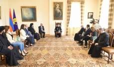 البطريرك كراكين الثاني اثنى على عمق العلاقات التاريخية بين لبنان وأرمينيا