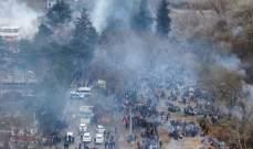 آلاف من المهاجرين يحاولون عبور الحدود التركية اليونانية