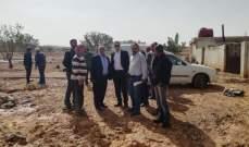 فرق من هيئة الإغاثة كشفت على أضرار السيول في يونين ونحلة وشعت
