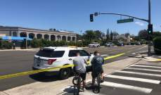 شرطة سان دييغو الاميركية تعتقل رجلا بعد اطلاق نار تسبب في سقوط جرحى قرب كنيس