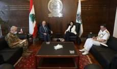وزير الدفاع أكد ايلاء الاهمية الكبرى لتأمين الدعم اللازم للجيش اللبناني