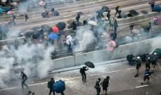 تظاهرة حاشدة في هونغ كونغ احتجاجا على مقتل متظاهر