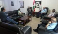 العميد حمدان يبحث مع ممثل الجبهة الشعبية في لبنان اخر المستجدات والأوضاع
