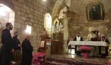 قداس احتفالي بعيد الفصح في دير مار انطونيوس قزحيا