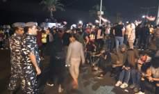 النشرة: المعتصمون عند دوار كفررمان باتوا ليلتهم في الخيم