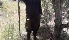 النشرة: مزارع يقتل افعى كبيرة في عينا قنيا بقضاء حاصبيا