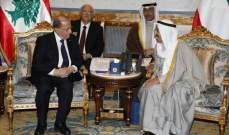 الأنباء: الرئيس عون طلب من الصباح مشاركة الكويت بمؤتمرات دعم لبنان