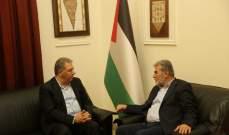 دبور التقى نائب الامين العام لحركة الجهاد الاسلامي