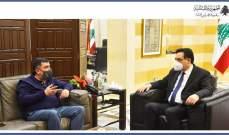 دياب استقبل الحوت وأشاد بخطوة شركة طيران الشرق الأوسط بتلقيح موظفيها