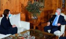 رئيس تيار المردة عرض مع السفيرة الفرنسية للأوضاع العامة والعلاقات الثنائية