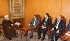 علي الخطيب استقبل السفير المصري الجديد في لبنان بزيارة تعارفية