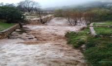 النشرة: دخول مياه الأمطار إلى المنازل في تول والنبطية وزفتا