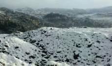 الثلوج لامست وادي الحاصباني