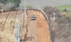 النشرة: قوة إسرائيلية مشطت الطريق العسكري المحاذية للجدار العازل