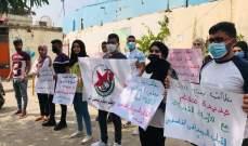 """""""أشد"""" ينظم اعتصاما طلابيا بمخيم عين الحلوة للمطالبة بإفتتاح كلية سبلين"""