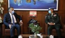 ابراهيم استقبل القائد الجديد لقوات فض الإشتباك بالجولان بزيارة تعارف