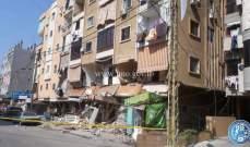 نائب رئيس بلدية برج حمود: لا خطر على المبنى المنهار جزئيا ولن ينام أحد على الطريق