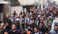 المبادرة الشعبية الفلسطينية نظمت اعتصاما لمواكبة مسيرات العودة الكبرى في غزة