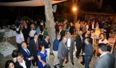 عشاء في منزل رئيس بلدية حمانا وتأكيد على العيش المشترك