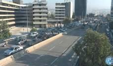 التحكم المروري: حركة مرور كثيفة على جسر العدلية باتجاه اوتيل ديو