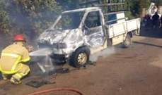 الدفاع المدني: إخماد حريق داخل شاحنة صغيرة في وجه الحجر بالبترون