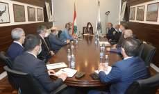 عكر عقدت اجتماعا حول الاجراءات المتعلقة بمحطة الحاويات والشركات بمرفأ بيروت