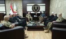 قائد الجيش بحث مع وفد من اللقاء الروحي بسبل تعزيز التعاون بين الجانبين