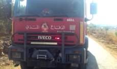 الدفاع المدني: إخماد حرائق أعشاب مختلفة في عيترون والدبابية ودده وبرمانا