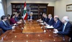 الرئيس عون عرض مع كوبيتش الاوضاع في لبنان