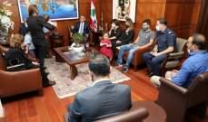 اللواء ابراهيم التقى وفدا من عائلات شهداء الأمن العام بانفجار بيروت