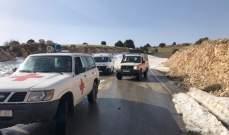 الصليب الأحمر: نقل 39 جريحاً لمستشفيات المنطقة ومعالجة 241 ميدانياً