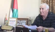 صبحي أبو عرب: لتشكيل لجنة من أجل بحث تسليم المطلوبين بعين الحلوة