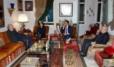 جنبلاط استقبل سفيري مصر وأوستراليا باحثاً معهما اخر التطورات