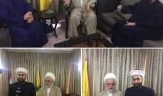 القطان وعبدالرزاق زارا المكتب السياسي لحزب الله: لبنان محكوم بالتوافق