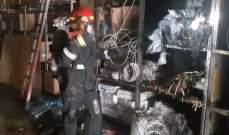 إخماد حريق داخل محل لبيع الأدوات الغذائية بالمريجة وآخر شب بأعشاب يابسة في بقعتوته