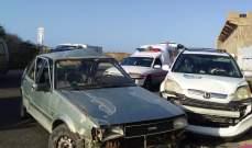 النشرة: جريحان بحادث سير في منطقة سينيق جنوب مدينة صيدا