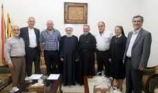 قاسم استقبل وفد من اتحاد المؤسسات التربوية الخاصة في لبنان