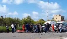 النشرة: سقوط 4 جرحى في حادث سير عند مدخل الغازية