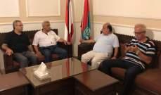 أسامة سعد يستقبل وفدا من  تجمع المؤسسات الأهلية في صيدا