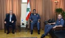 اللواء عثمان استقبال محافظ عكار ورئيسة بلدية حردين في مكتبه